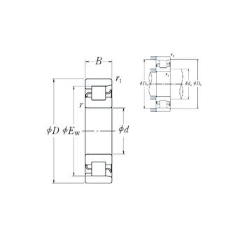 NF 209 NSK Cylindrical Roller Bearings